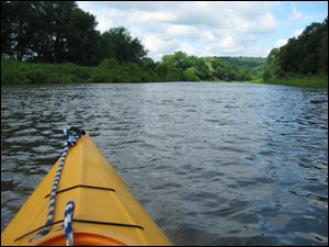 Kayaking on the Redbank